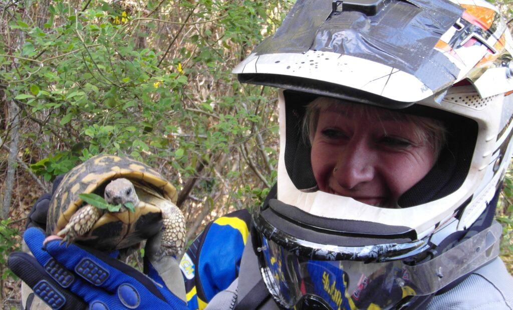 Endurista mit Schildkröte
